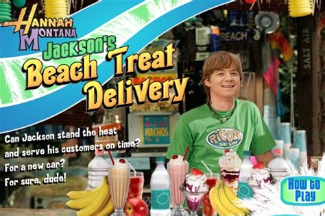 Hannah Montana - Beach Treat Delivery Game - Play Free